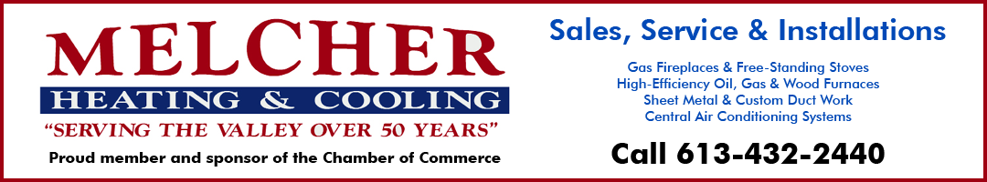Melcher Heating & Cooling sponsor ad linked to site